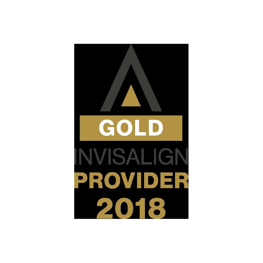 Gold Invisalign provider 2018 icon