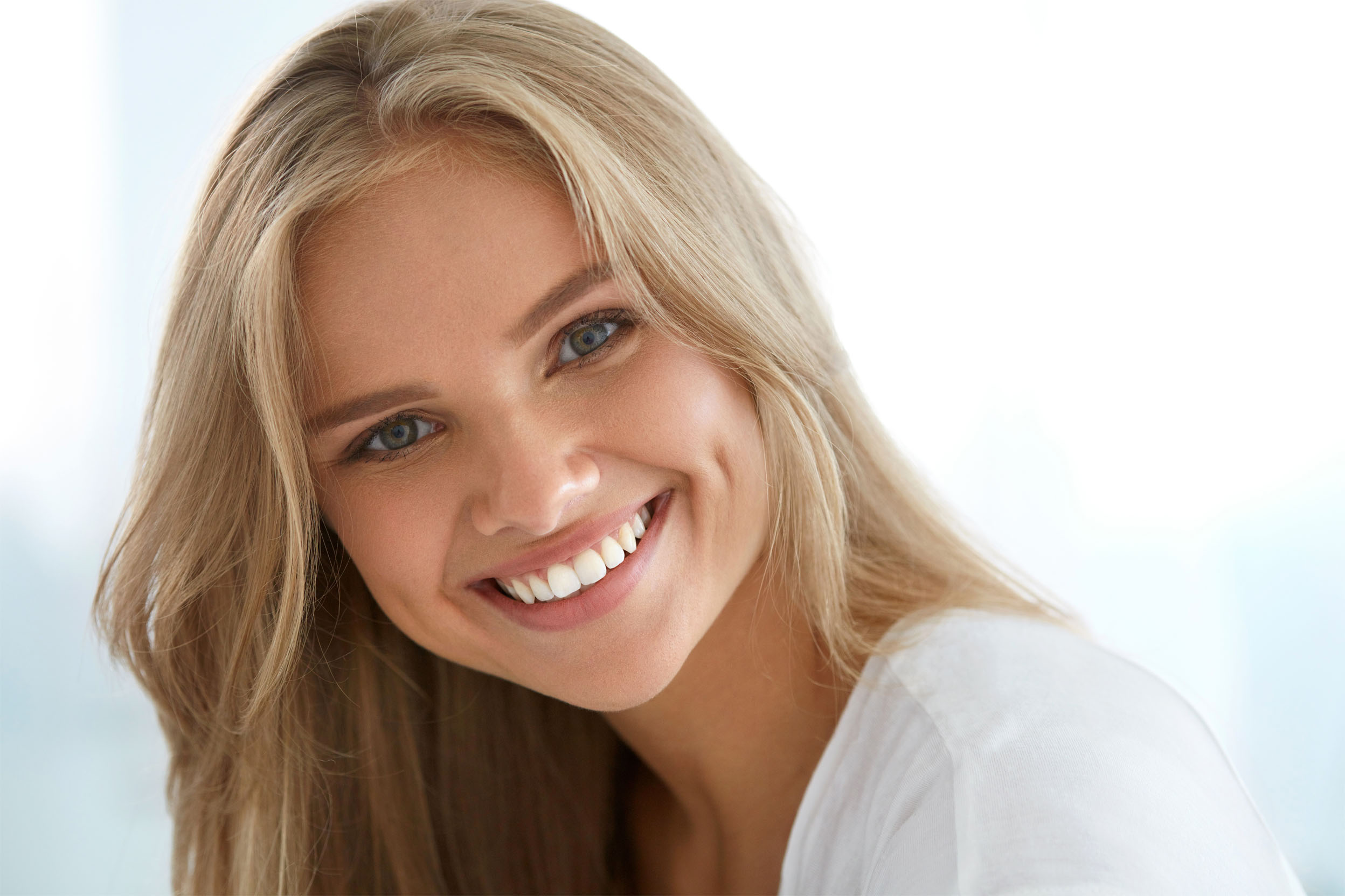 Young woman with a perfect smile